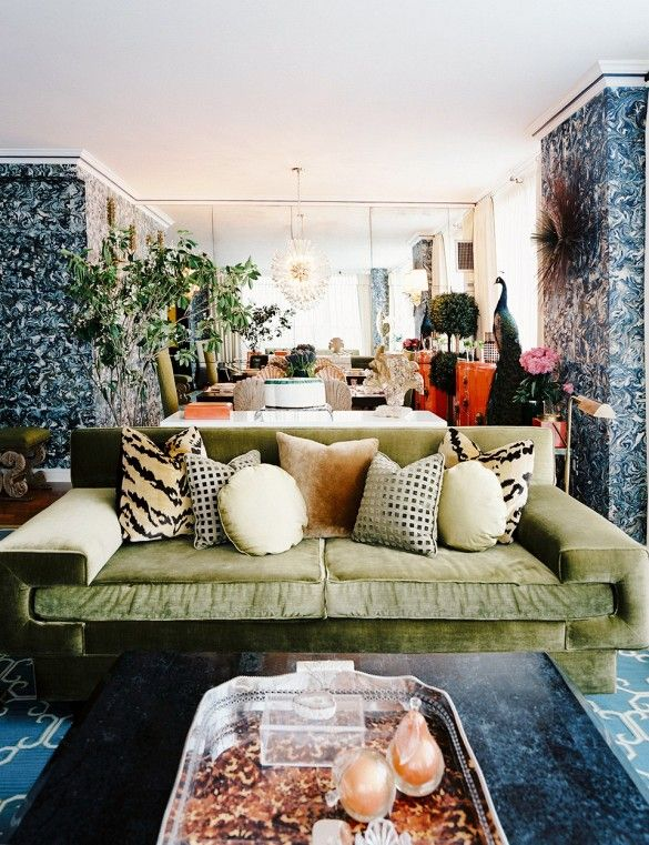 Wallpaper 101 Your Ultimate Guide To Statement Walls Sofa StylingGreen