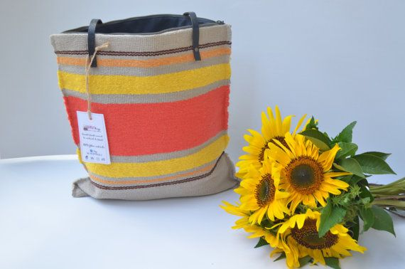 Handwoven handbag tote purse handmade manual loom by rcreativ