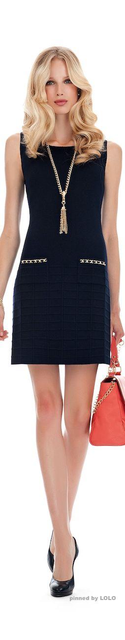 Luisa Spagnoli #vestido #tubinho #bolso #azul  #colar