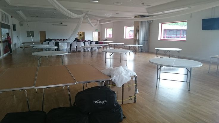How the room at Altrincham FC Sports Hall looked before the set up