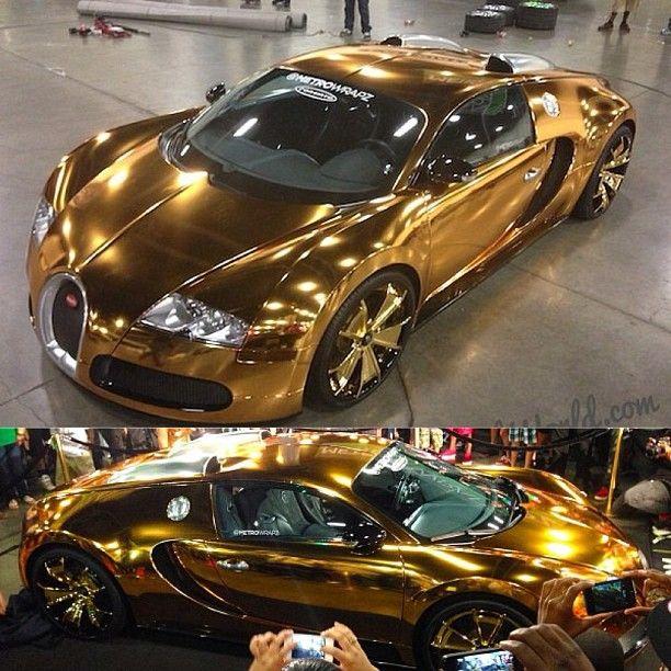 Gold Bugatti!