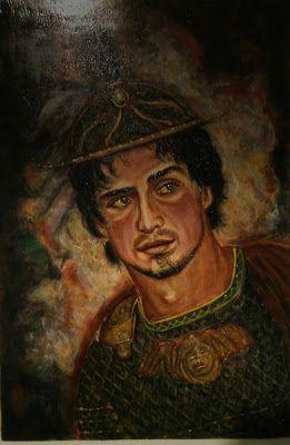 Ettore o la riflessione - Tavola ad encausto by Fundarò