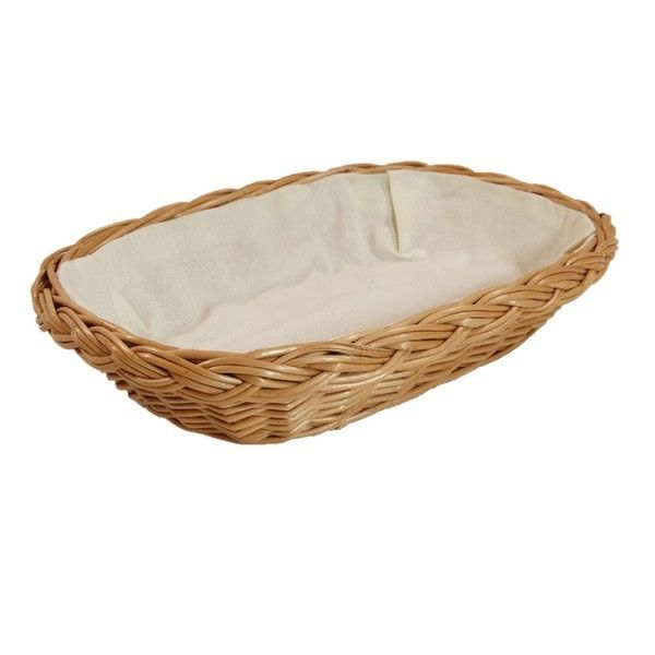 """Wiklinowy koszyk """"BROT"""" wyściełany materiałem (ecru)"""