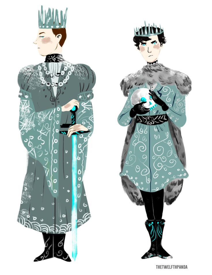 Ice King Mycroft and Ice Prince Sherlock by thetwelfthpanda. // <3