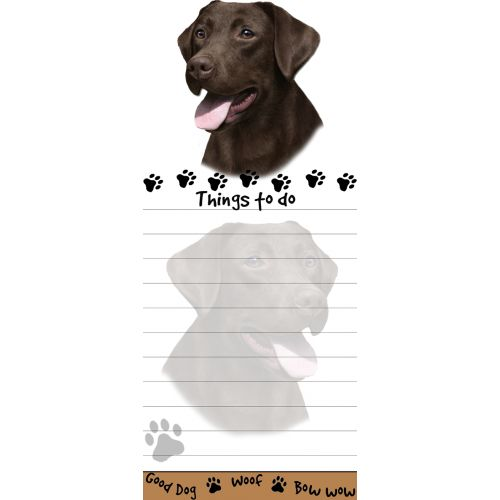 Chocolate Labrador Things To Do List Pad