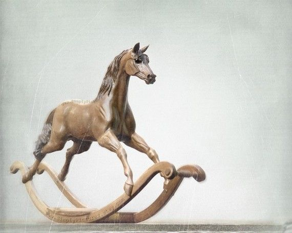 Rocking Horse Wood Sculpture 'Kid Brother' by MollyHeyer on Etsy