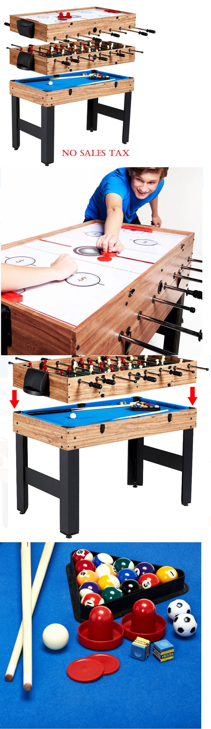 Air Hockey 36275: Pool Table Air Less Slide Hockey Foosball Table Set Top Billiard Combo Game -> BUY IT NOW ONLY: $109.61 on eBay!