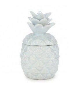 Chandelle ANANAS en céramique - Bleu pâle