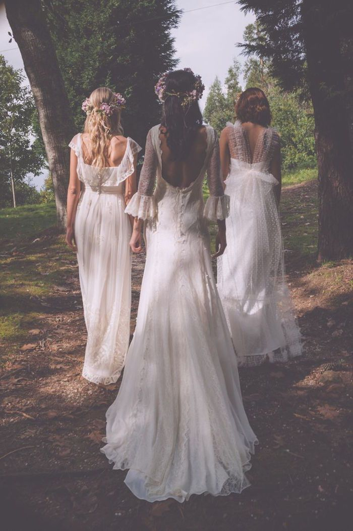 Bohemian style Bouret wedding dress; photo: Melissa Adams