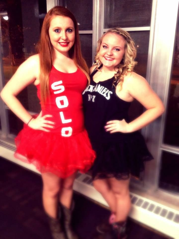 Jack Daniels and Red Solo Cup Halloween Costumes DIY