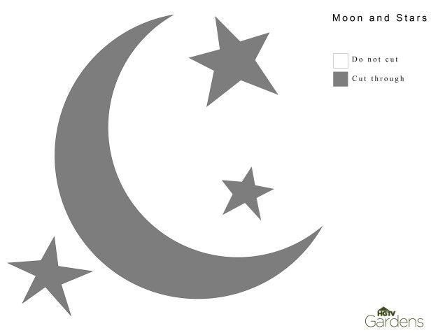 Moon And Stars Pumpkin Carving Pattern