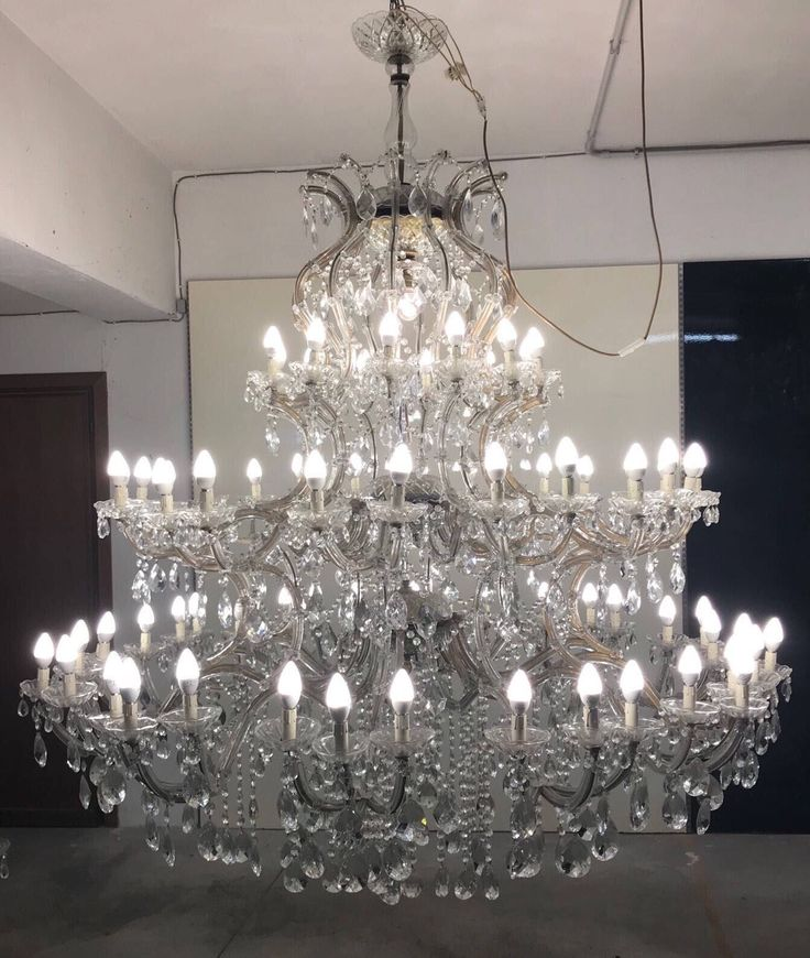 Large Crystal Chandelier #etsy shop: Large 7ft Murano Chandelier, Monumental 72 Light Crystal Chandelier, Rare Vintage Maria Theresa Chandelier, Free Shipping USA #victorian #monumentallighting #muranolighting #72lightchandelier #theenglishsisters #vintagechandelier #bling #interiordesign #luxuryhomes #luxuryhotels