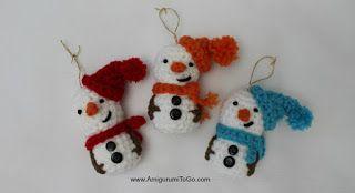 Amigurumi Snowman Ornament ~ Amigurumi To Go