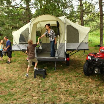 All of the fun of tent camping with the comfort of being off the ground!  Lifetime® Camping Tent Trailer