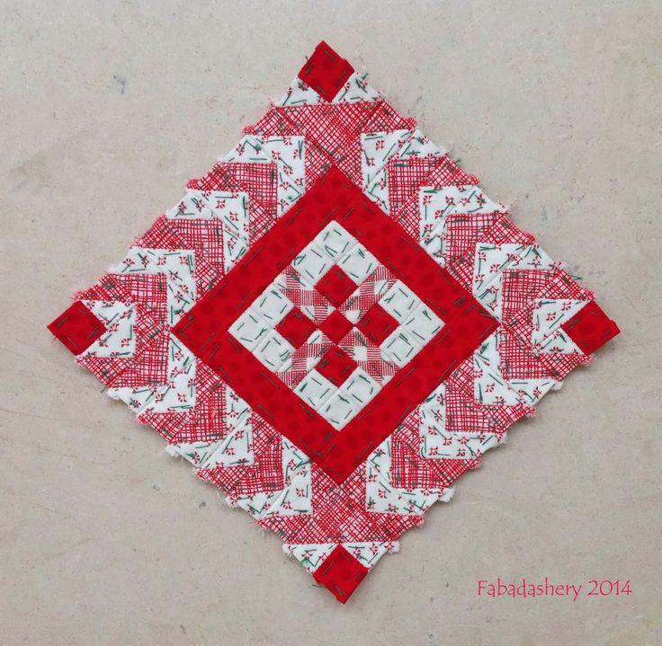 Fabadashery: Nearly Insane Quilt - Block 22
