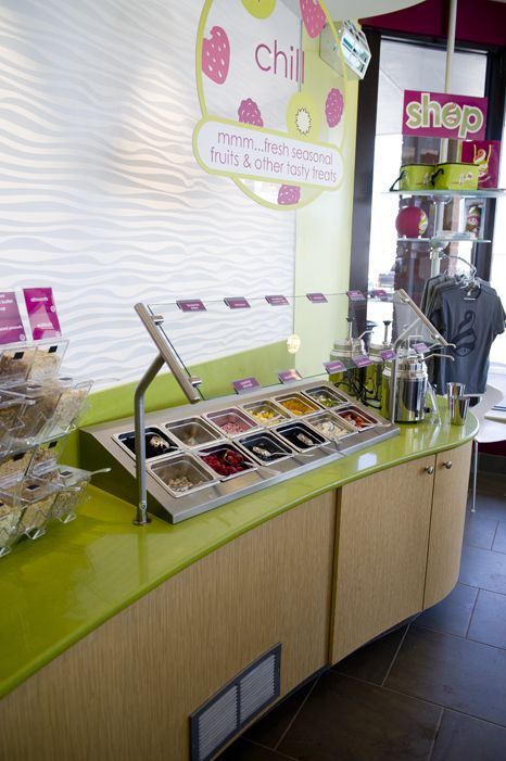 Menchie's cold frozen yogurt toppings
