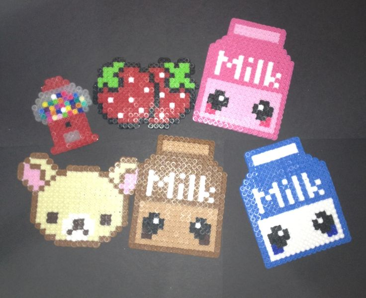 Okay, this one is for me (!) Kawaii style perler beads