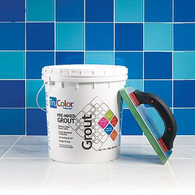 Editors' Pick: Grout. Bostik's TruColor premixed grout is pricey and sets quickly, but the nonporous urethane formula resists cracks, won't stain, and needs no sealing. | thisoldhouse.com