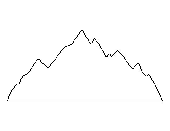 Mountain range pattern use the printable outline for