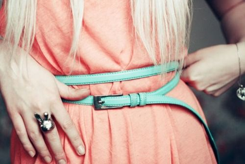 small, colorful beltsColors Combos, Complimentary Colors, Post, Than, Autumn Style, Amazing Accessories, Outfit Amazing, Peaches, Colors Belts