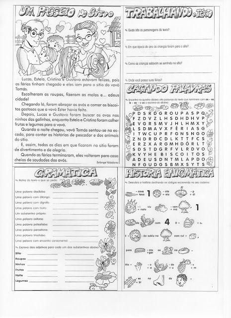 ATIVIDADES DIVERSAS CLÁUDIA: Atividade complementar de lingua portuguesa