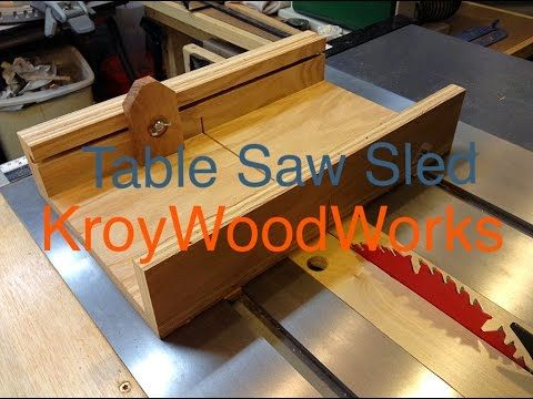 Small Table Saw Sled - YouTube