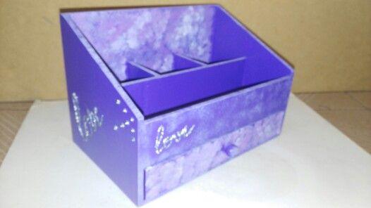 Caja para accesorios decorada
