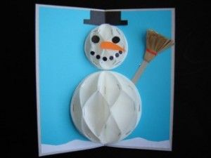 Snowman 3D Greeting Card