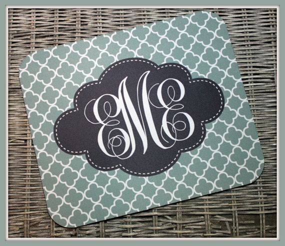 Personalized Mouse Pad Personalized Mousepad by ChicMonogram, $16.00