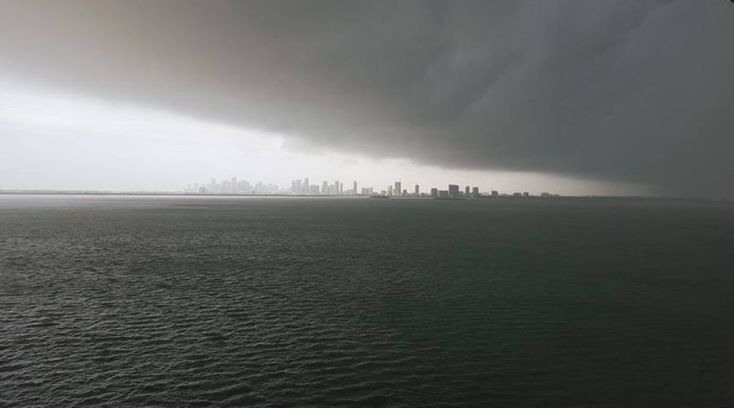 """A tornado warning issued in south Florida Tuesday morning woke up residents, if the giant thunderstorms hadn't already. Officials have not yet confirmed any actual tornadoes touched down, but several reports by locals online say """"tornadoes""""..."""