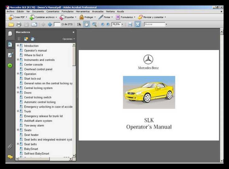 28 best mercedes slk 230 images on pinterest rh pinterest com mercedes slk r171 service manual Mercedes SLS