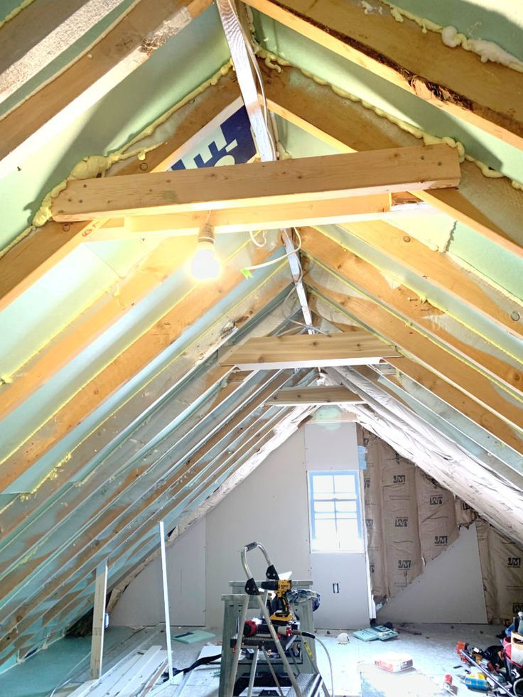 Insulating The Room Over The Garage In 2020 Attic Remodel Garage Insulation Garage Attic