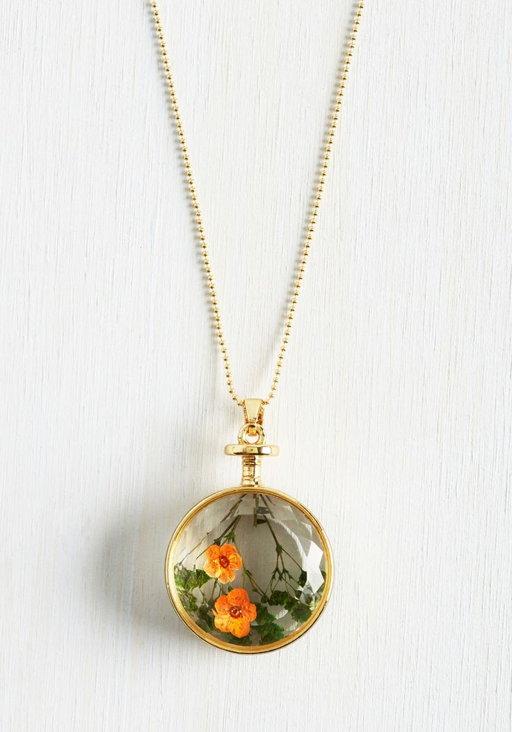Prized Perennials Necklace. Your style will stay in full bloom with this golden necklace in your collection! #multi #modcloth