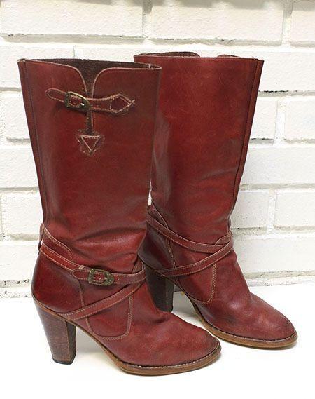 Vtg Zodiac Slouchy Western Cowboy Women's Size 8.5 Harness Biker Boho 70's  Heel