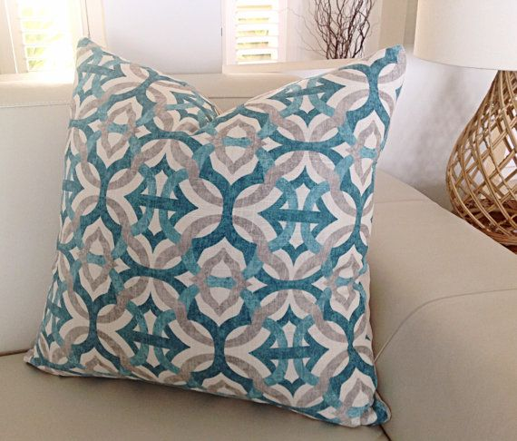 Teal Pillows Teal Linen Pillows Modern by MyBeachsideStyle on Etsy                                                                                                                                                                                 More