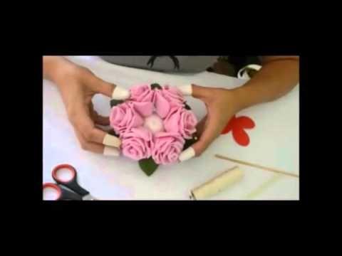 Vida com Arte | Buquê com Strass por Andreia Bassan - 24 de Setembro de 2014 - YouTube