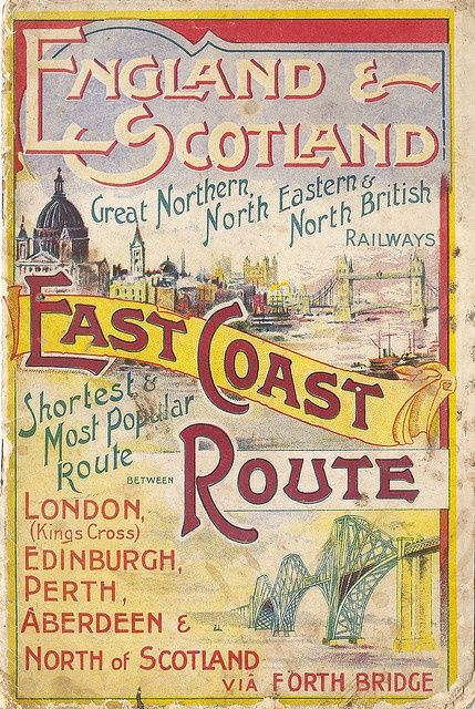 England & Scotland _________________________ #Vintage #Travel #Poster