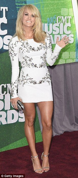 Carrie Underwood, Jana Kramer and Kimberly Perry dazzle at CMT awards #dailymail