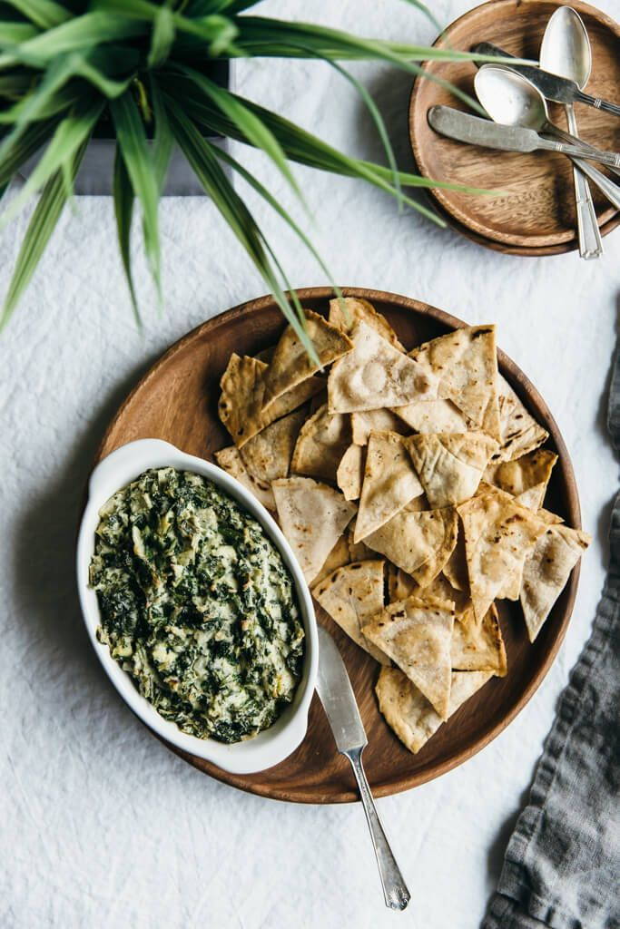 Spinach and artichoke dip. Dairy-free and paleo-friendly.