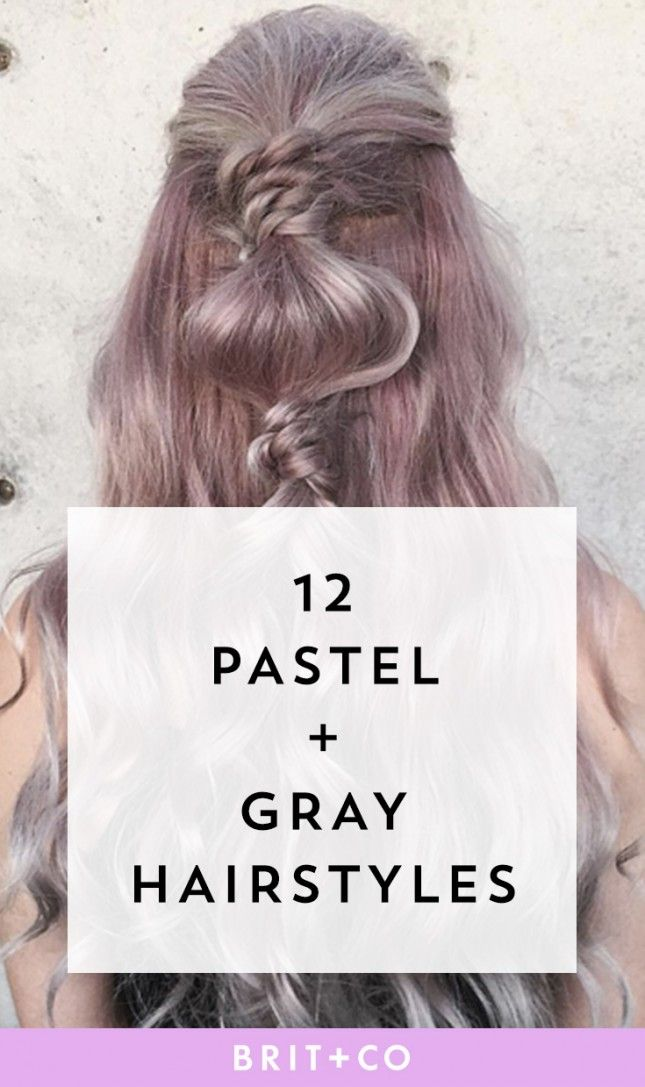 Check this out for the perfect mix of pastel + grey hairstyles.
