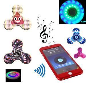 Mini Bluetooth Speaker Music Fidget Spinner LED EDC Hand Spinner Toys Creative finger spinner drop shipping
