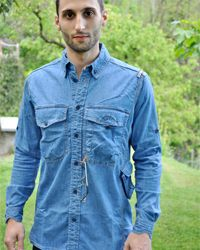 Organic Denim Long Sleeved Shirt. Only found at Proto X type!