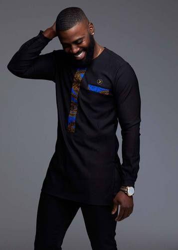 9ef86f7d7 Men's African Print Dashiki T-Shirt (Navy) in 2019 | tees | African ...