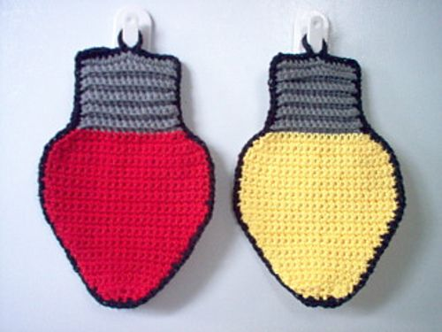 Ravelry: Christmas Lights Dishcloth/Potholder pattern by Linda Bohrn