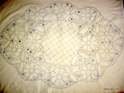 MACRAME 'ROMANIAN - POINT LACE: New-DESIGN MODEL by Nunzia Gregorina