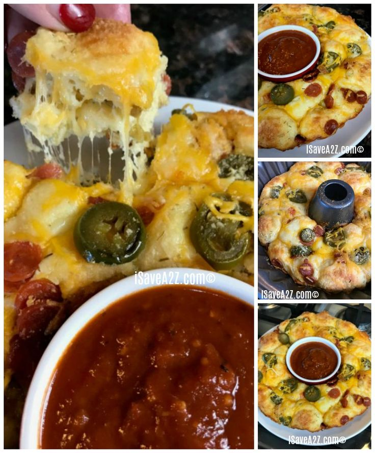 Keto Pull Apart Pizza Bread Recipe - iSaveA2Z.com