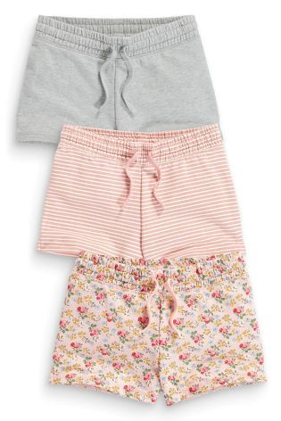 Three Pack Pink And Grey Shorts (3-16yrs) - Next - £14.50