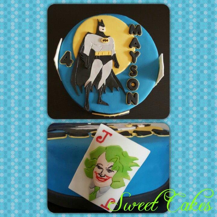 Batman vs The Joker taart by Sweet Cakes