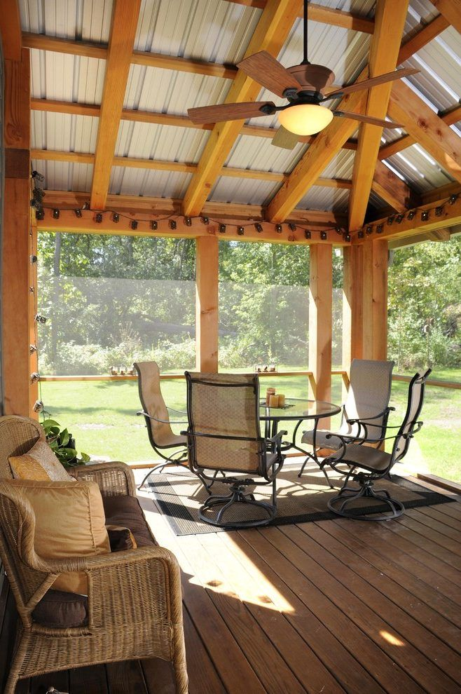 exposed roof design porch eclectic with timber screen patio table rh pinterest com