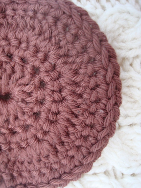 Facial Scrubby Pads Exfoliation Pads Brown Cotton  set of four. $5.00, via Etsy.